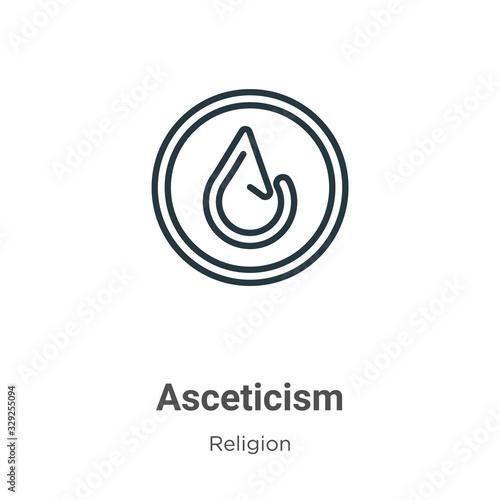 Asceticism outline vector icon Canvas Print