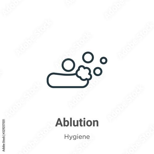 Ablution outline vector icon Fototapet