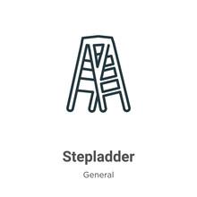 Stepladder Outline Vector Icon...