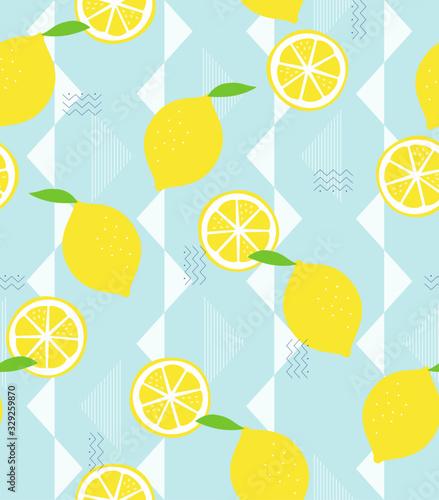 レモン模様のシームレスパターン