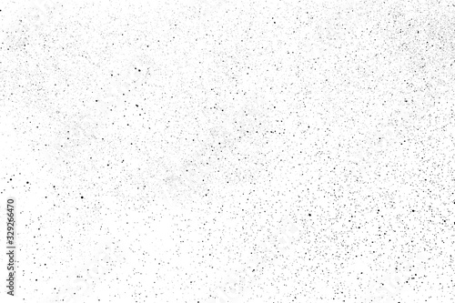 Black grainy texture isolated on white background. Dust overlay. Dark noise granules. Digitally generated image. Vector design elements. Illustration, Eps 10.