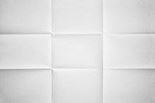 White Paper Folded In Nine Fra...