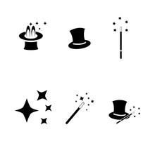 Magic Icon Vector Logo Design Template