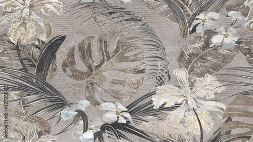 tropikalne-liscie-i-kwiaty