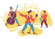 Jazz Swing Show 2D Vector Web ...