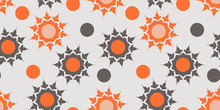 Seamless Pattern With Orange A...