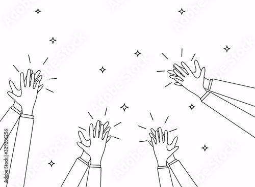Human hands clapping Canvas Print