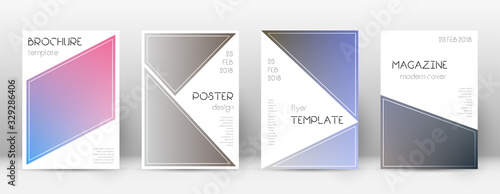 Photo Flyer layout. Triangle bizarre template for Brochu