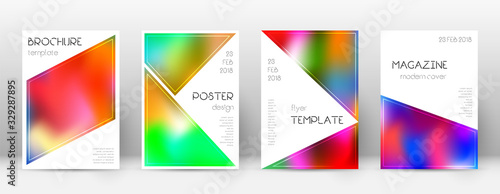 Flyer layout. Triangle fresh template for Brochure Canvas Print