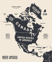 Map North America. Poster Map ...