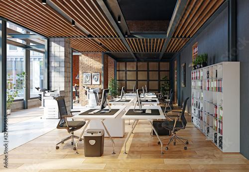 Obraz contemporary loft office - fototapety do salonu