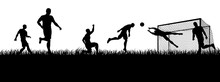 Soccer Football Players In Sil...