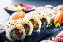 Apanese Sushi Food. Maki Ands ...
