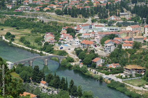 Fototapeta Perovic or Arslanagic bridge over Trebisnjica river, Bosnia and Herzegovina obraz na płótnie