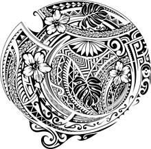Polynesian Ornament With Ethni...