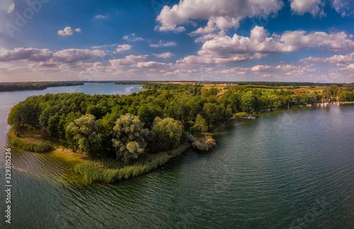 Jezioro Drawsko z lotu ptaka