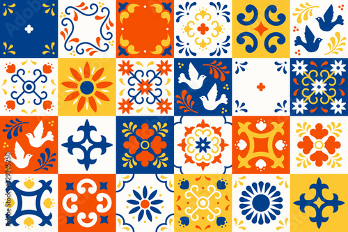 Photographie Mexican talavera pattern
