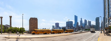 Silhouette Von Chicago Am Magg...