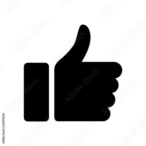Obraz kciuk w górę ikona - fototapety do salonu