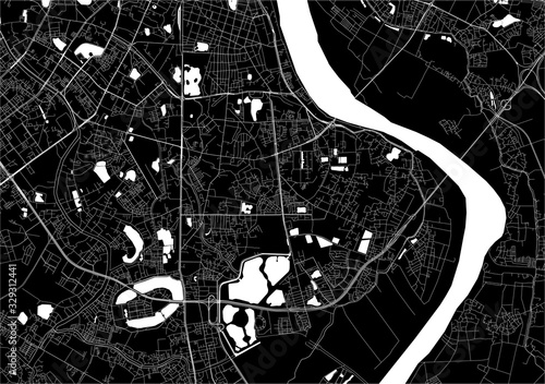 Canvas Print map of the city of Hanoi, Vietnam