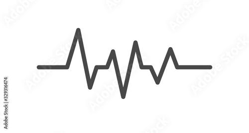 Fotografie, Tablou Heart rate line icon on white background. Vector illustration.