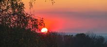 Sunset, October Landscape In T...
