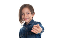 Little Boy Doing Hand Sign On ...