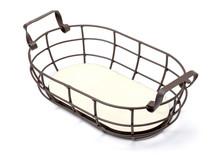 Wire Basket On White Background