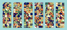 Abstract Shapes Compositions. Colorful Vector Background