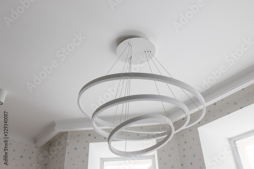 Photo lamp on a white background
