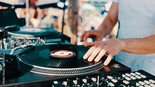 Summer music beach party Fototapete
