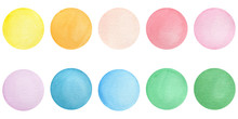 Set Of Watercolor Colorful Dot...