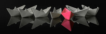 Origami Paper Ship With Sailbo...