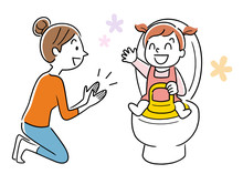 Child Care: Toilet Training, Mother And Child