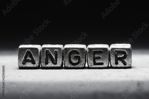 The concept of anger, emotion management technique Fotobehang