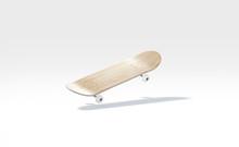 Blank Wood Skateboard With Whe...