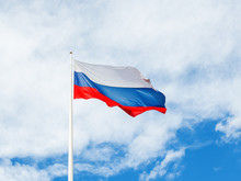 National Russian Flag Waving O...