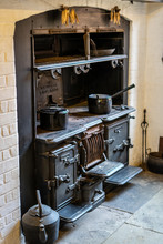 An Old Wood Burning Stove In A...