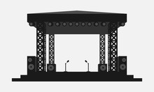 Outdoor Concert Stage Black An...