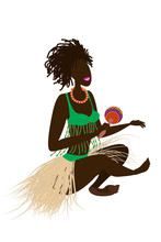 An African Girl With Dreadlock...