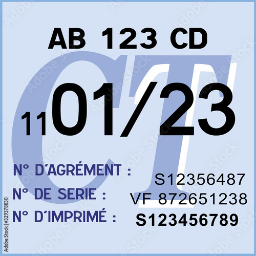 Vignette Controle Technique De La Securite Routiere En France Code De La Route 2022 Buy This Stock Vector And Explore Similar Vectors At Adobe Stock Adobe Stock