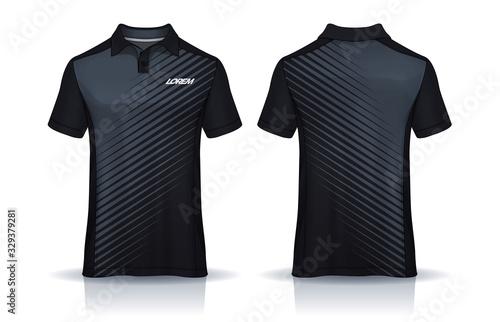 Fototapeta t-shirt polo templates design. uniform front and back view. obraz na płótnie