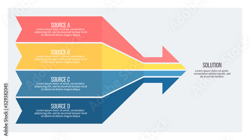 Business infographic. Arrow chart with 4 options. Vector template.