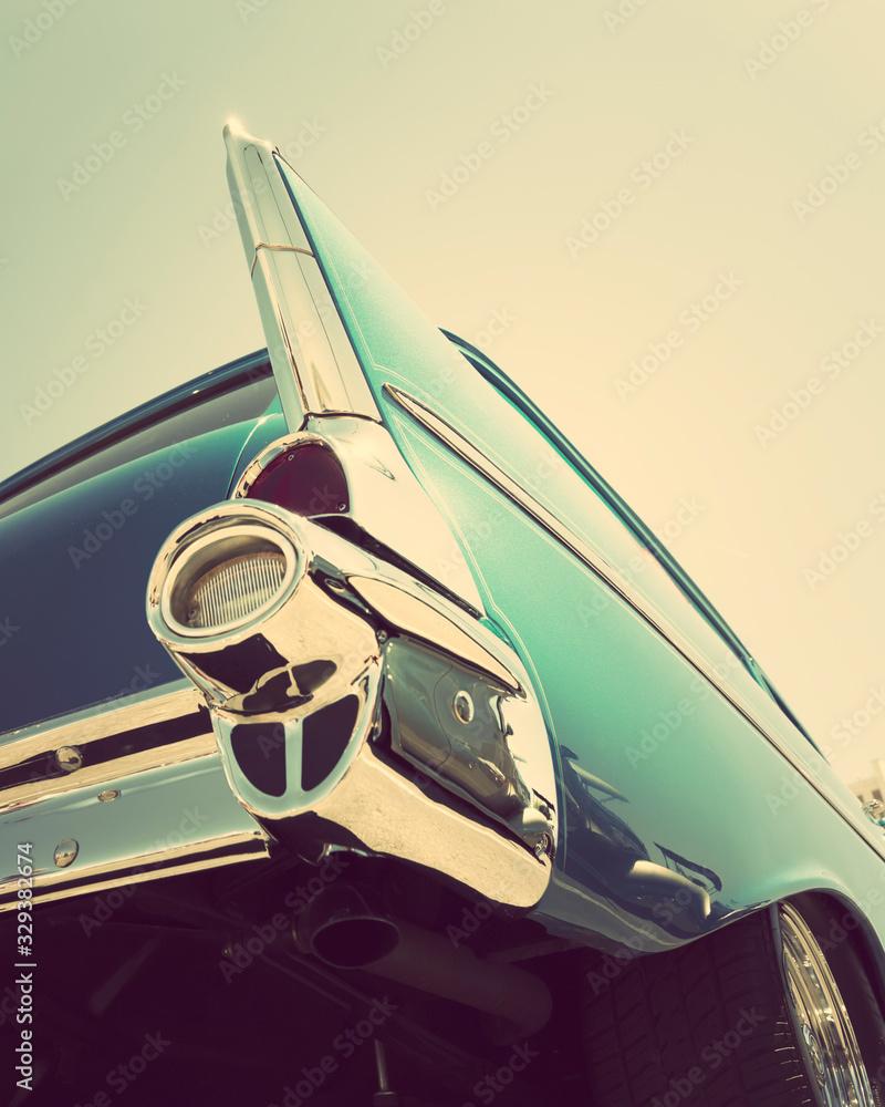 Fototapeta classic vintage car tailight close-up