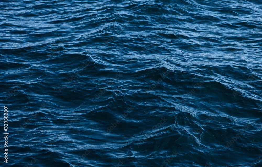 Fototapeta dark blue ocean waves
