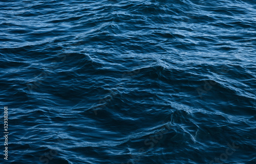 Fotografia dark blue ocean waves