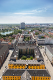 A view of Copenhagen (København) city center as seen from The Church of Our Saviour (Vor Frelsers Kirke).