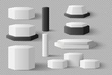 White Blank Cylinder, Hexagon ...