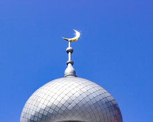 Mosque Of Muslim. Crescent On ...