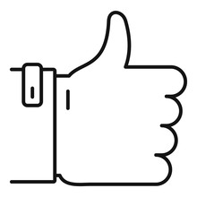 Thumb Up Icon. Outline Thumb U...